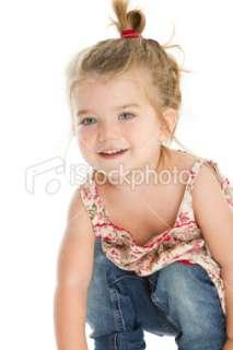 Adorable little girl having fun Royalty Free Stock Photo