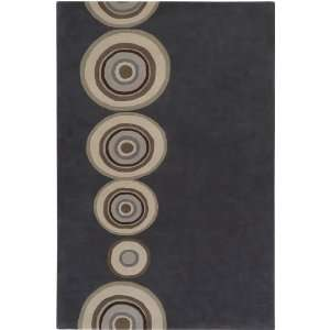 Surya Dazzle Charcoal Taupe Circles 33 x 53 Rug (DAZ