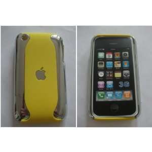 New Apple iPhone 3G / 3GS Chrome and Yellow Dual 2 Tone High Quality