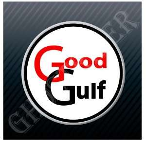 Good Gulf Gas Oil Gasoline Fuel Pump Marine Racing Old Logo Sticker