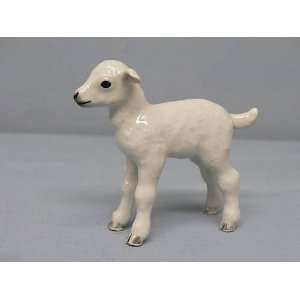 White Sheep LAMB MINIATURE Porcelain NEW stands NORTHERN