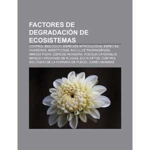 Factores de degradación de ecosistemas: Control