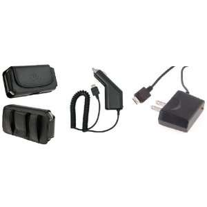 3in1 Car+Home Charger+Leather Case For Verizon Casio Gzone