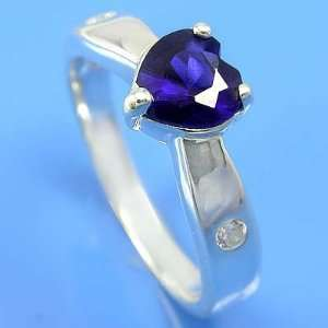 3.36 grams 925 Sterling Silver Blue Sapphire & White