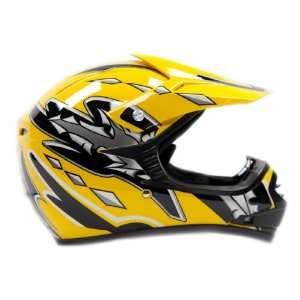 Typhoon Youth Motocross ATV Dirt Bike MX Helmet Yellow
