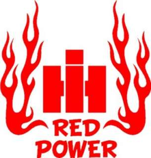 New Custom RED POWER IH Pulling Farm Tractor (& Cub Cadet Fans) Decal