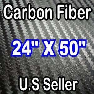 24 X 50 3D CARBON FIBER EXTERIOR WRAP SHEET VINYL DECAL JDM CAR NEW
