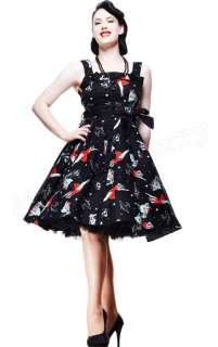 Hell Bunny Dolores 50s Rockabilly Dress Zombies Pin Up Tattoo Gothic