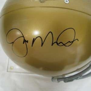 Joe Montana Autographed Replica Notre Dame Helmet