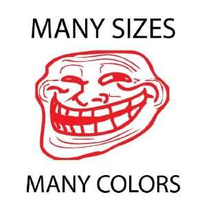 x10   Red   Troll Face Meme 4chan Custom Vinyl Decal