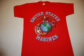 Vintage USA U.S.A. Marines America Military T Shirt Medium