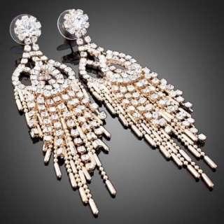 ARINNA Swarovski Crystal 18KGP Dangle bridal Earrings