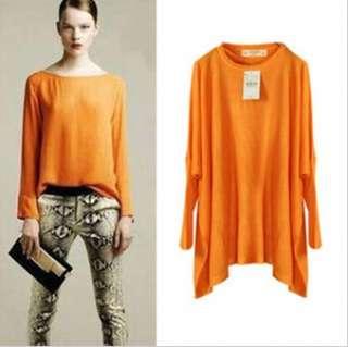 Women Casual Baggy Batwing T Shirt Top Tee 4 Colors 073