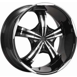 Motiv Mayhem 20x9 Chrome Black Wheel / Rim 6x5.5 & 6x135 with a 25mm