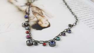 1pcs 15 Store Gypsy Princess Crystal Vintage Necklace Coat Chain X65