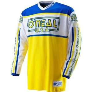 83 Mens MX/Off Road/Dirt Bike Motorcycle Jersey   Blue/Yellow / Large
