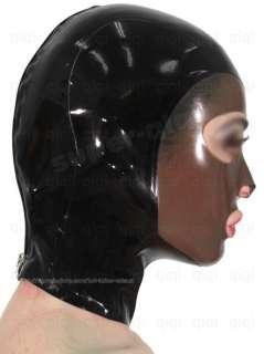 Latex/rubber/0.45mm mask/hood/costume/catsuit/suit/black/wear/totem