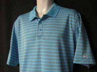 UNDER ARMOUR Mens Short Sleeve Polo Shirt XL Blue Orange White Stripe
