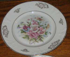 Co scherzer zeh Bavaria Pink Blue Gold Salad Plates