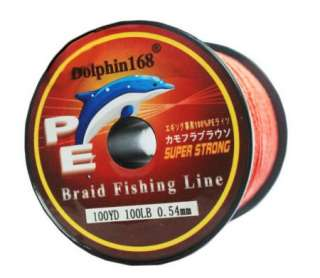 PE DYNEEMA BRAID FISHING LINE 100LB 100YD SPECTRA RED