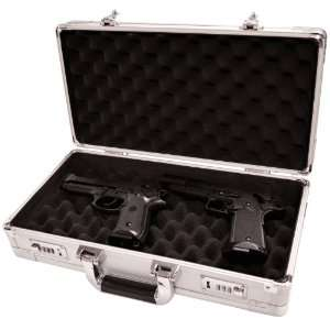 Magnum 8476 Pistol Gun Case Silver Sports & Outdoors