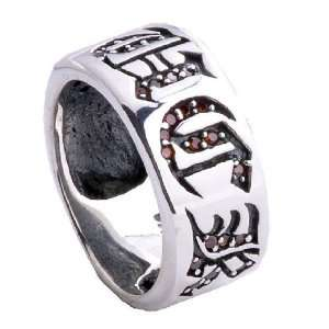 Mens Punk Rock Gothic Jewelry F.U.C.K. Engraved Ring for