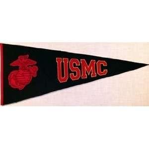 USMC Marines Globe 40.5x17.5 Classic Wool Pennant: Sports