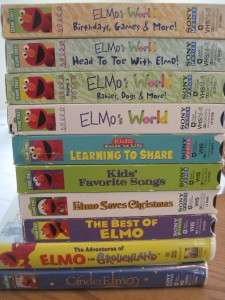 HUGE LOT 20 VHS Video SESAME STREET ELMOS WORLD BIG BIRD XMAS COUNT