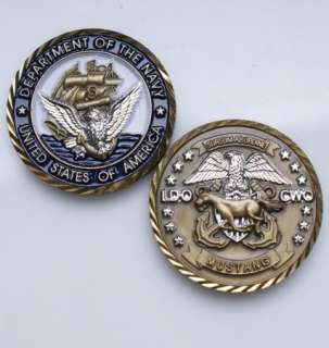 US NAVY LDO CWO MUSTANG Challenge Coin