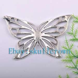 FREE SHIP 10pcs Tibetan Silver Butterfly Pendants 70mm LP7178