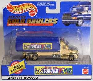 Hot Wheels 24K Plated Gold Haulers Toys R Us 65750 MIB