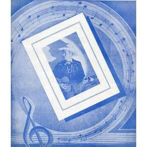 Vintage Sheet Music NO LETTER TODAY, With GENE AUTRY on front cover