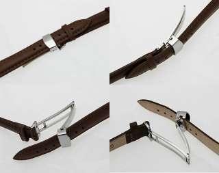 20mm Stainless Steel Flip Lock Deployment Clasp Watch Deployant Buckle
