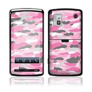 Pink Camo Decorative Skin Cover Decal Sticker for LG VU