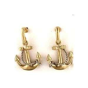 Reyes del Mar 14K Gold Small Anchor NO Diamonds Earring