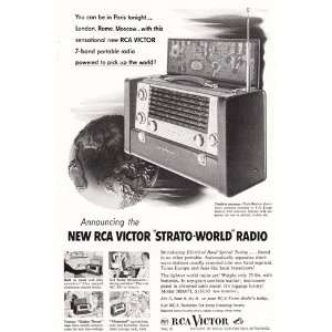Print Ad: 1953 RCA Victor Strato World Radio: RCA: Books