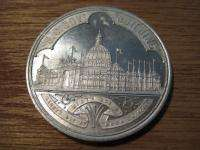 ORIGINAL 1893 Columbian Exposition Chicago Worlds Fair Aluminum Token