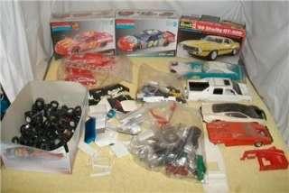 Lot Junkyard Model Car Parts Tires, Rims, Misc. Huge Parts Bash Kit