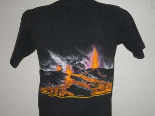 vintage 1989 HAWAII VOLCANOES PARK KILAUEA T Shirt SMALL neon tourist
