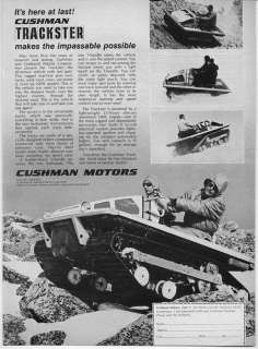 1970 Vintage Ad Cushman Trackster Recreation Vehicle RV Lincoln,NE