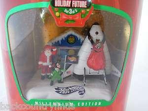New 1999 Holiday Hot Wheels Cars Millennium Santa Spaceship Christmas