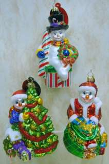 RADKO Holly Jean Pink ORNAMENT Snowman 1011693