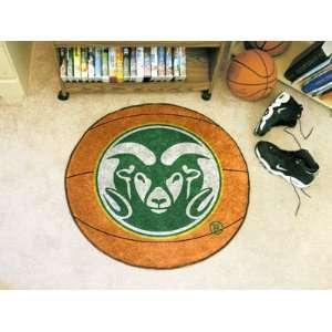 Colorado State University Ram logo   Basketball Mat