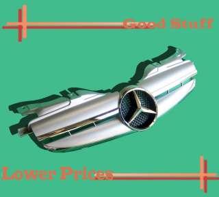 97 04 Mercedes Benz R170 Silver Grille Assembly SLK320