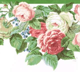 DIE CUT BEAUTIFUL PINK & RED ROSES 10 1/4 Wallpaper bordeR Wall