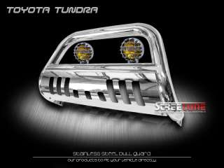 07 10 TOYOTA TUNDRA BRUSH GRILL GUARD BULL BAR W/ FOG