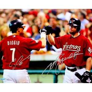 Signed Craig Biggio Picture   & JEFF BAGWELL 16x20 PSA DNA