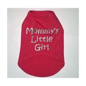 Pink MOMMYS LITTLE GIRL Dog Tank Top Shirt Size XXXL 3X
