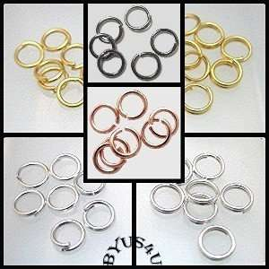 JUMP RING 5mm OPEN or SPLIT DOUBLE 20g CONNECTORS 100pc  