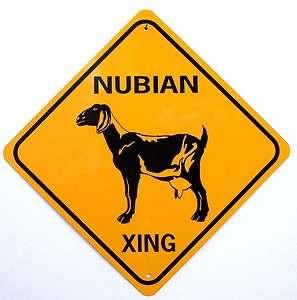NUBIAN XING Aluminum Goat Sign Wont rust or fade
